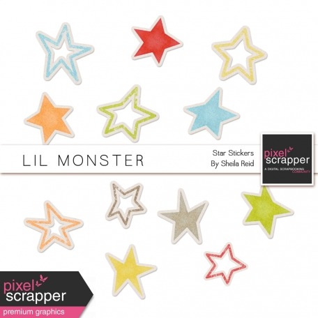 Lil Monster Star Stickers Kit