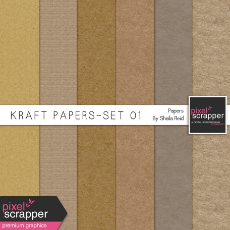 Kraft Papers-Set 01 Papers Kit