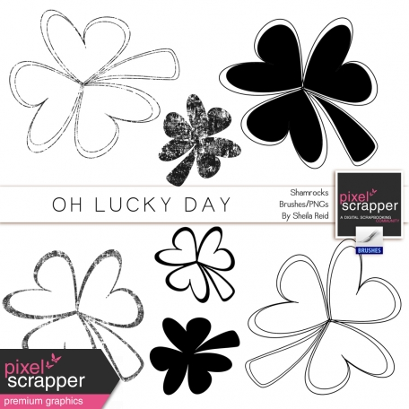 Oh Lucky Day Shamrocks Brushes/PNG's Kit