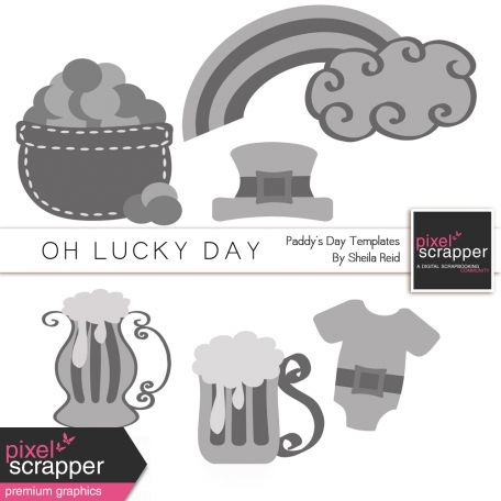 Oh Lucky Day Paddy's Day Templates Kit