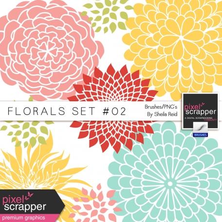 Florals Set #02 Brushes/PNG's Kit