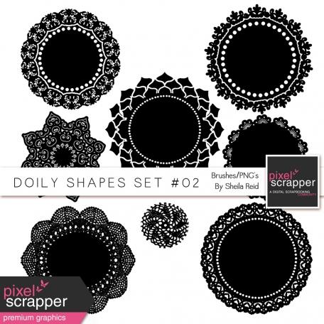 Doily Shapes Set #02 Templates Kit