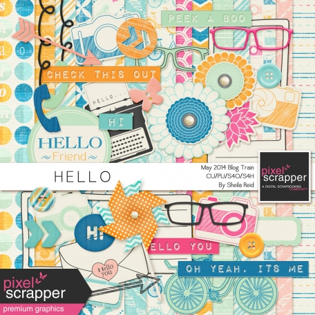 Hello-May 2014 Blog Train Mini Kit