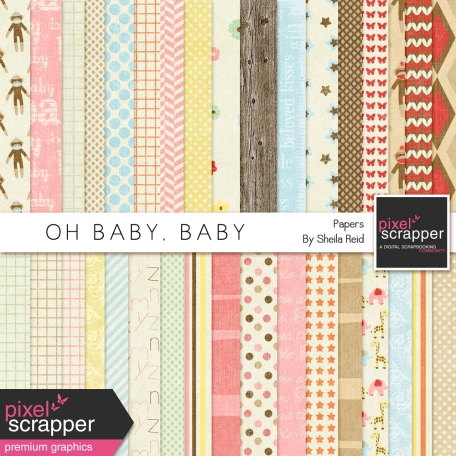 Oh Baby, Baby Patterned Papers Kit