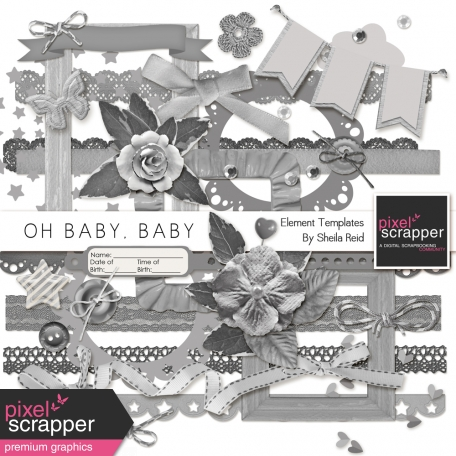 Oh Baby, Baby Element Templates Kit