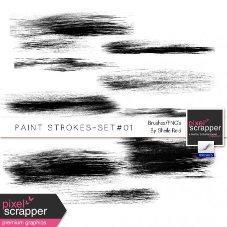 Paint Strokes Set #01 Brushes/PNG's Kit