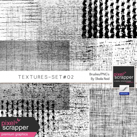 Textures Set #02 Brushes/PNG's Kit