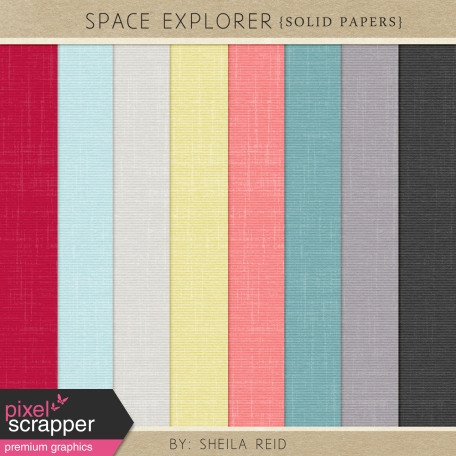 Space Explorer Solid Papers Kit