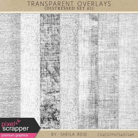Transparent Overlays- Distressed Set 02