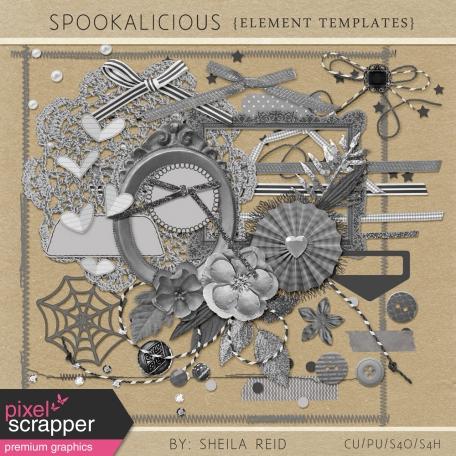 Spookalicious Element Templates Kit