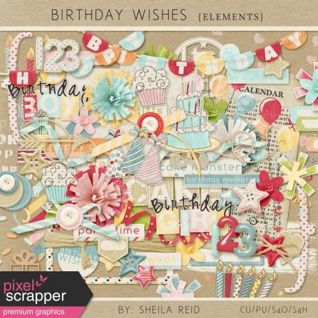Birthday Wishes Elements Kit