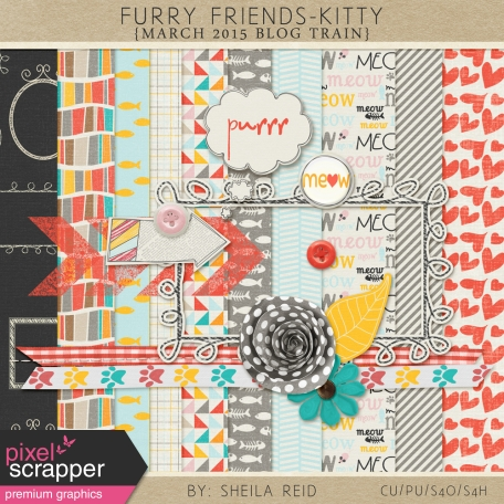 Furry Friends- Kitty March 2015 Blog Train Mini Kit
