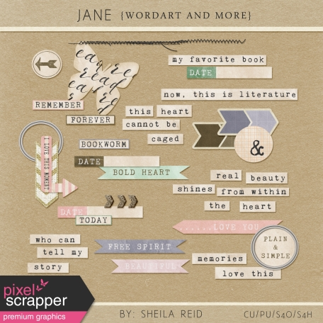 Jane Wordart And More Kit