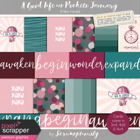 A Good Life in Pockets: January 2019 Filler Card Kit