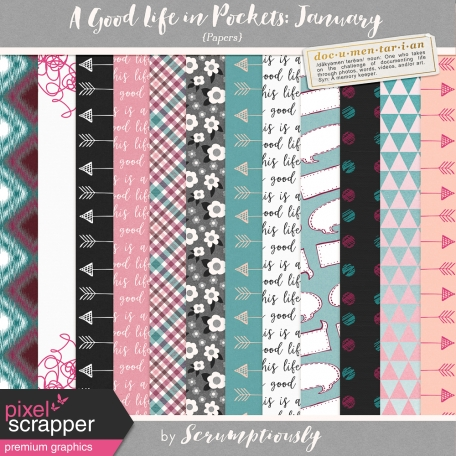 A Good Life in Pockets: January 2019 Papers Kit