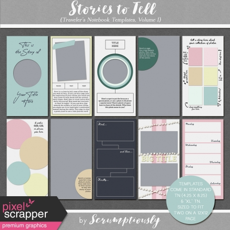 Stories To Tell - Traveler's Notebook Templates, Volume I