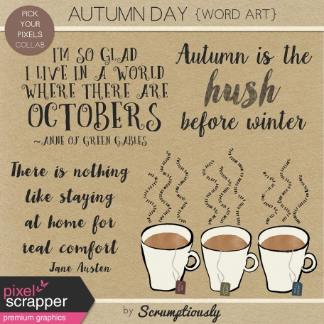 Autumn Day Word Art