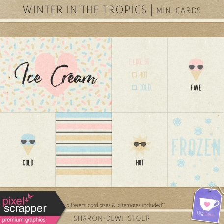 Winter in the Tropics - Mini Cards
