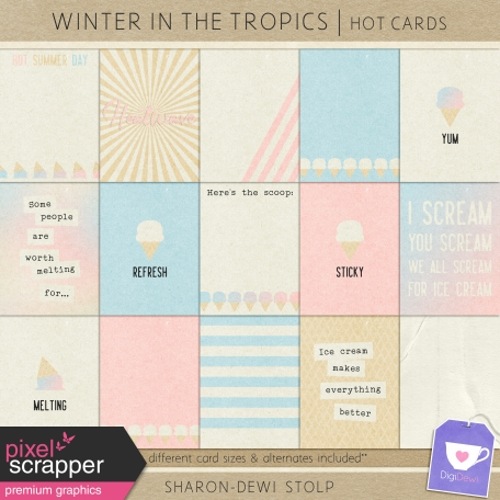 Winter in the Tropics - Hot Cards