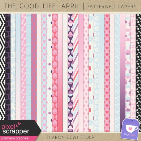 The Good Life: April - Patterned Papers