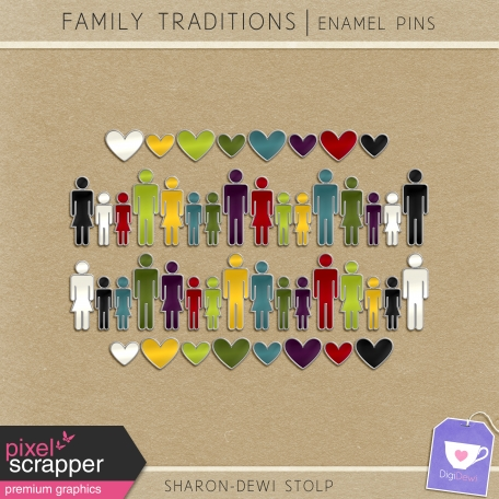 Family Traditions - Enamel Pins