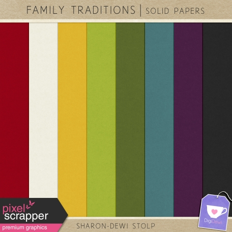Family Traditions - Solid Papers