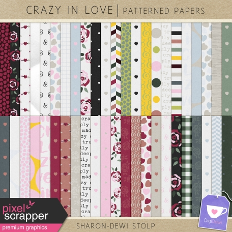 Crazy in Love - Patterned Papers