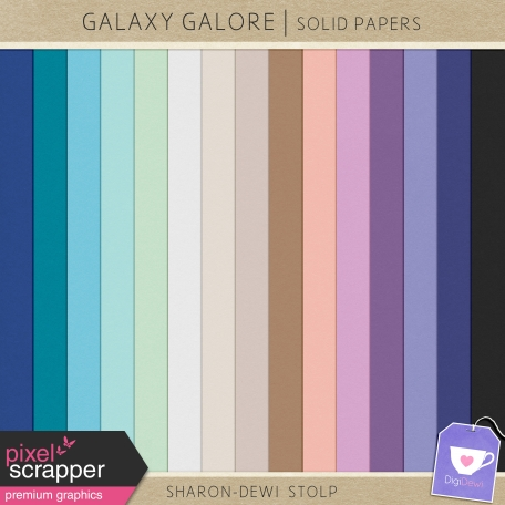 Galaxy Galore - Solid Papers