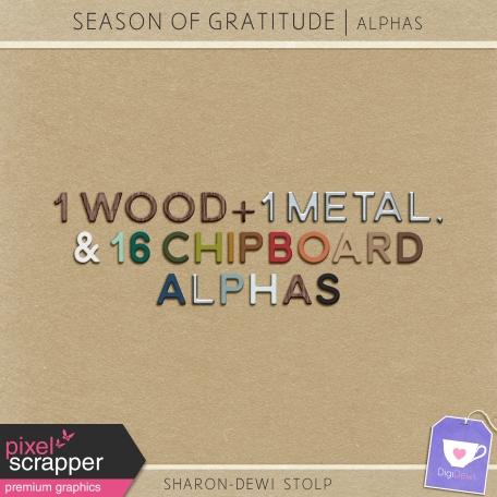 Season of Gratitude - Alphas