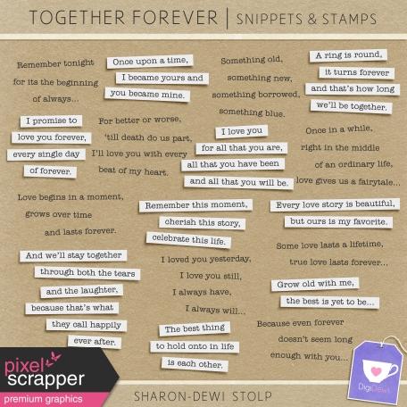 Together Forever - Snippets & Stamps
