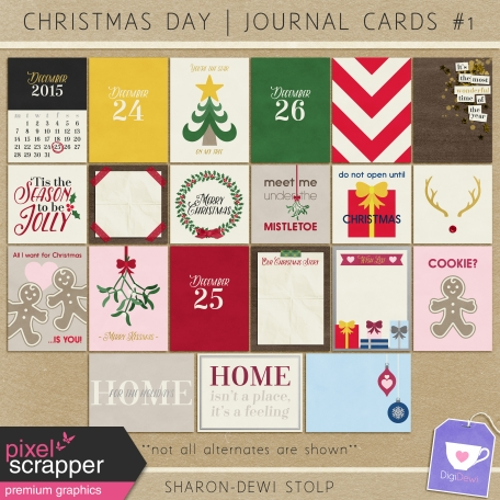 Christmas Day - Journal Cards #1