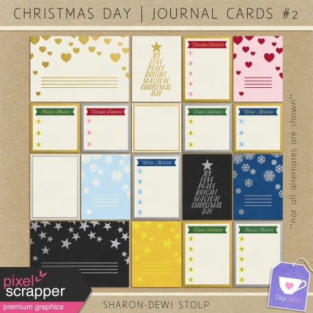 Christmas Day - Journal Cards #2