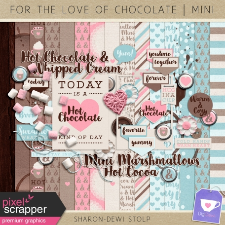 mini digital scrapbooking kit dedicated to the love of chocolate