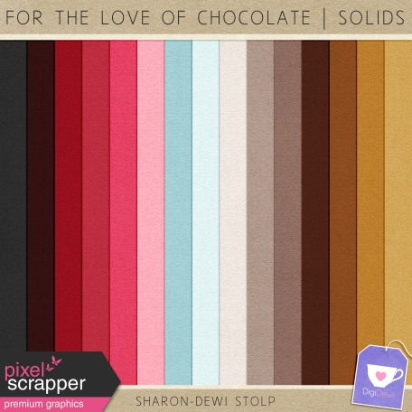 For The Love Of Chocolate - Solid Papers