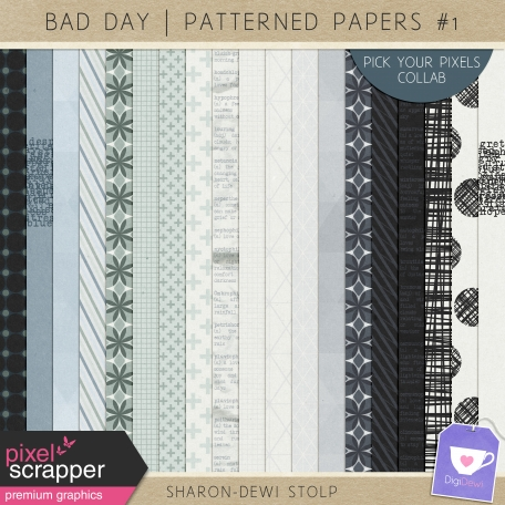 Bad Day - Patterned Papers #1