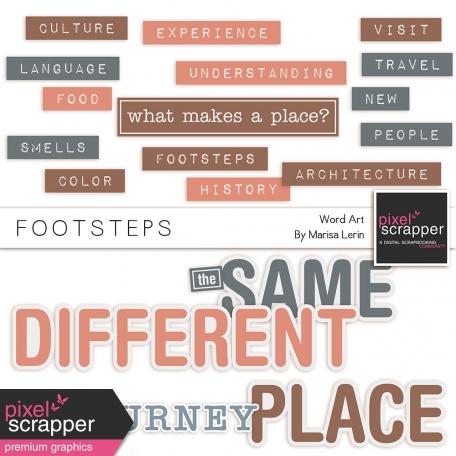 Footsteps Word Art Kit