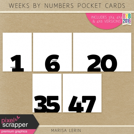 Weekly Pocket Cards Kit #1