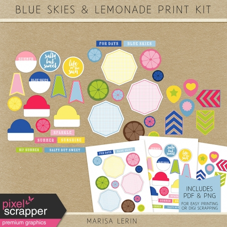 Blue Skies & Lemonade Print Kit