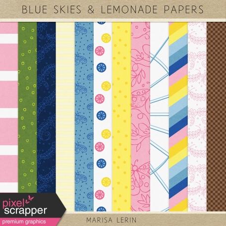 Blue Skies & Lemonade Papers Kit