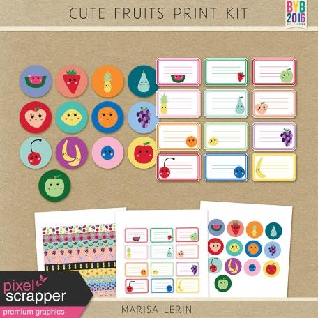 Cute Fruits Print Kit