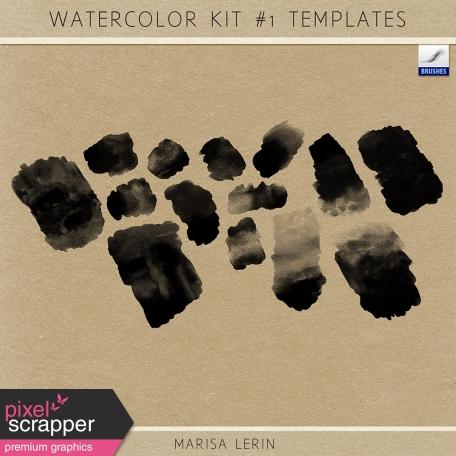 Watercolor Kit #1 Templates