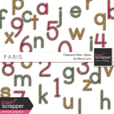 Paris Chipboard Alphas Kit