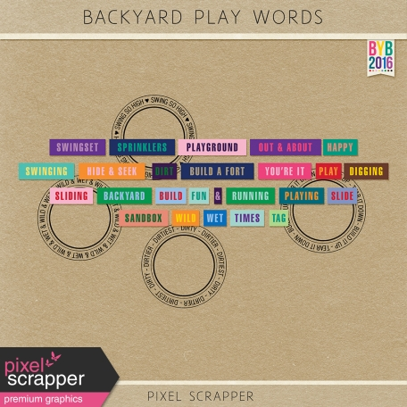 Backyard Play Word Art Kit