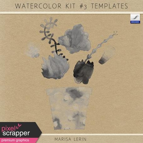 Watercolor Kit #3 Templates