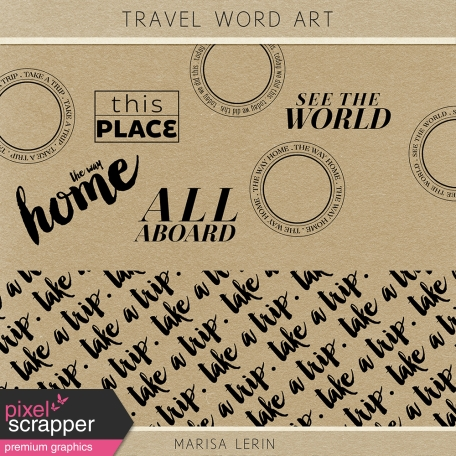 Travel Word Art Kit