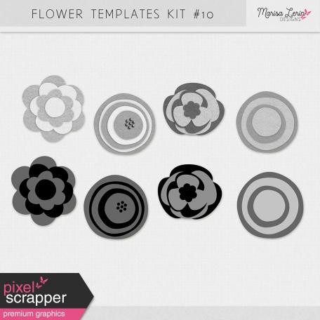 Flower Templates Kit #10 - Felt