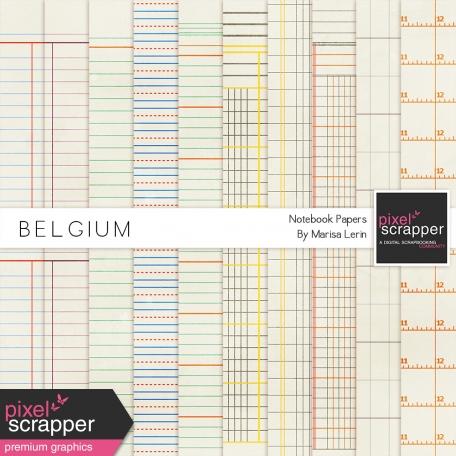 Belgium Notebook Papers Kit