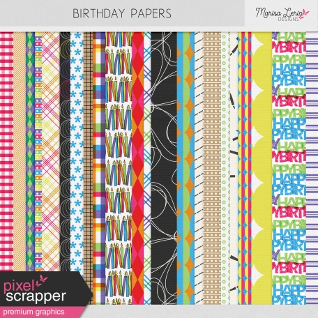 Birthday Papers Kit