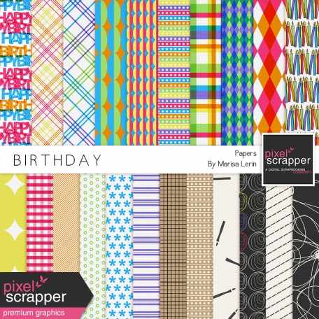 Birthday Papers Kit