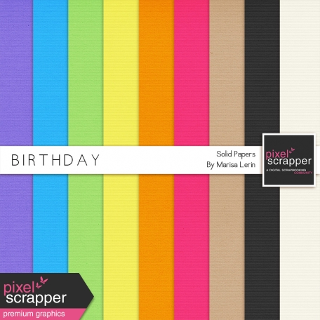Birthday Solid Papers Kit